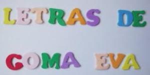 Letras de goma Eva